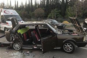 Gaziantep'te korkunç kaza: 1 ölü, 14 yaralı