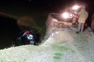 Bingöl'de otomobil gölete uçtu:  2 ölü, 2 yaralı.16725