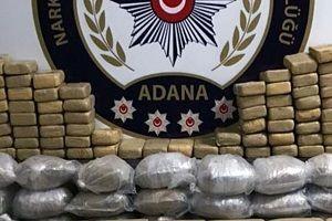 Adana'da 5 milyon liralık uyuşturucu yakalandı.25701