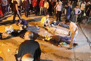 Midibüs ile TIR çarpıştı: 20 yaralı.30697