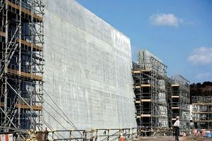 Okyanus kıyılarında 'tsunami' duvarı.25295