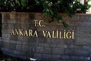 Ankara Valiliği yasak getirdi.21795