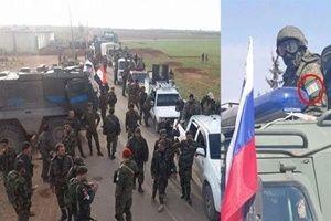 Rus askerleri, PKK bağlantılı armaları taktı.21322