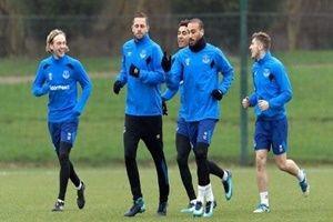 Cenk Tosun, Everton'da ilk idmanına çıktı
