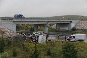 Çorum'da otobüs kazası: 48 yaralı.16572
