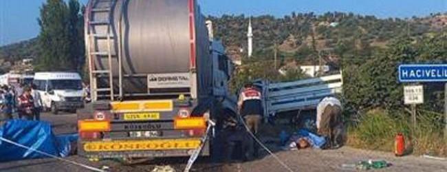 Manisa'daki feci kazada 15 ki�i can verdi!