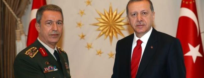 Erdoğan, Orgeneral Akar ile görüştü