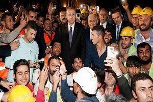 Erdoğan inşaatı denetledi.32514
