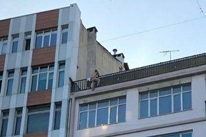 Şişli'de 7 katlı binada intihar girişimi!.18040