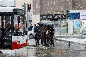 İzmir'de kar yağışı nedeniyle okullar tatil.28756