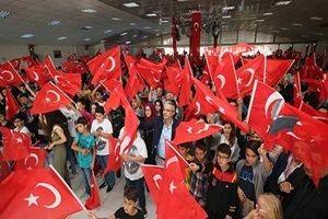 İzmir'deki törende 3000 kişi 'Andımız' okudu.29916