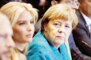 Merkel, Ivanka'nın yanına oturtuldu.19620