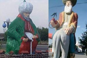 Nasreddin Hoca heykeline tepki!