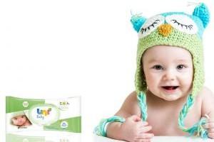 Bebek dostu Uni Baby Natural Islak Bebek Havlusu.13454