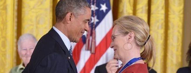 Obama, Meryl Streep'e a�k�n� ilan etti!