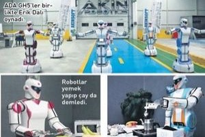 Yerli robot, mangal yapıp, oynuyor!.25013