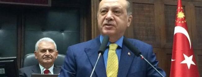 Erdoğan'ın ilk grup toplantısı!