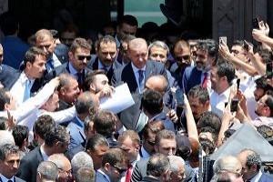Cuma çıkışı 'Erdoğan' izdihamı.30457