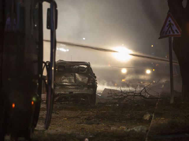 Patlamadan hemen sonra �ekilen kareler