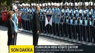 Yeni Cumhurba�kan� Meclis'e b�yle girdi