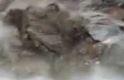 Artvin'de tünelin çökme anı görüntülendi